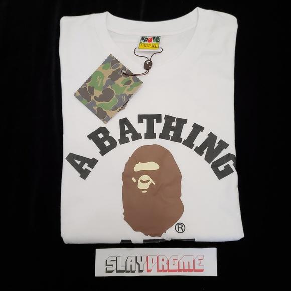 69578eaf7 Bape Shirts | A Bathing Ape College Tee | Poshmark